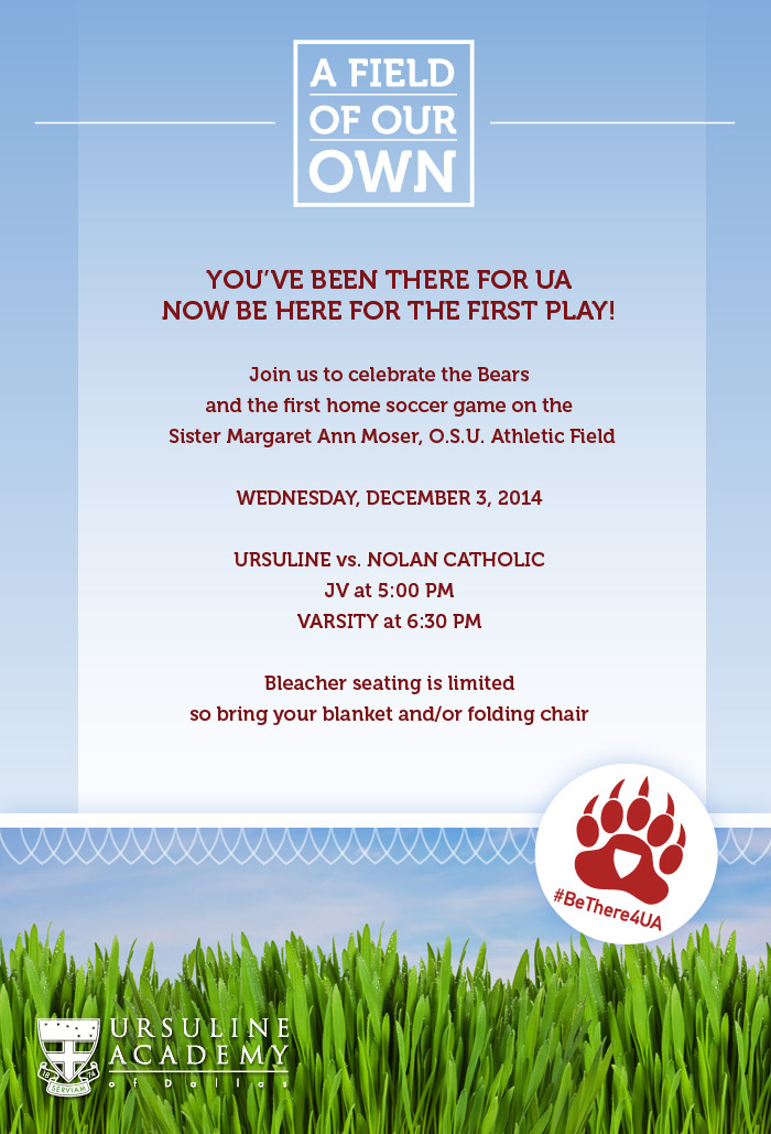 You've Been There for UA Now Be Here for the First Play